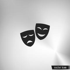 Theater masks. Vector art