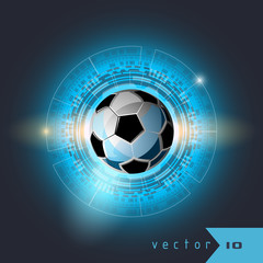 Football interface display sport soccer vector illustration background