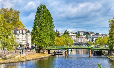 The Erdre River in Nantes, France Fototapete