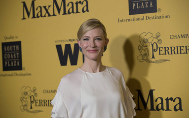 Actress Blanchett poses at the Women In Film Los Angeles 2014 Crystal + Lucy Awards in Century City