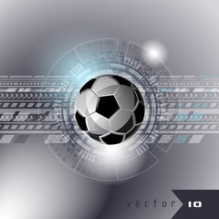 Football modern interface display sport soccer vector illustration background