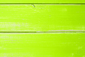 Light Green Wooden Slats Background With Copy Space