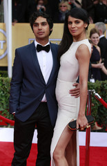 Actor Kunal Nayyar and his wife Neha Kapur arrive at the 19th annual Screen Actors Guild Awards in Los Angeles