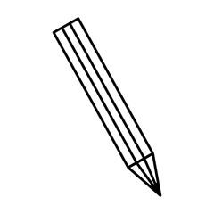 pencil utensil icon over white background. vector illustration