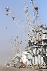 General view of Umm Qasr port is seen near Basra, southeast of Baghdad