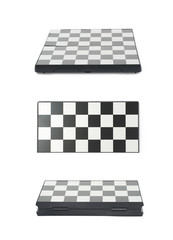 Folded chess board isolated