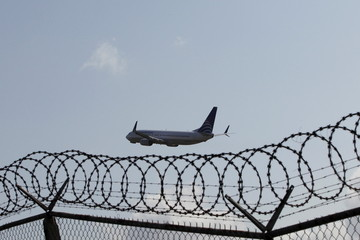 A Copa airplane takes off from Tocumen international airport in Panama City