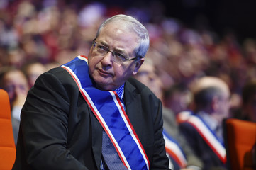 Ile-de-France regional president Jean-Paul Huchon attends a meeting of French mayors in Paris