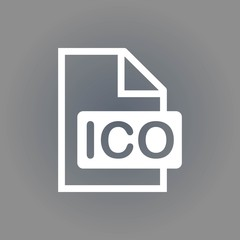 ico icon stock vector illustration flat design