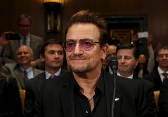 U2 lead singer Bono attends a Senate Appropriations State, Foreign Operations and Related Programs Subcommittee hearing