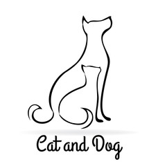 Logo cat and dog silhouttes