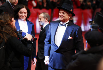 """Cast member Murray arrives for the screening of the movie """"The Grand Budapest Hotel"""" during the 64th Berlinale International Film Festival in Berlin"""