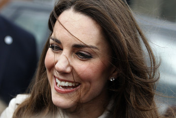 Kate Middleton, the fiancee of Britain's Prince William smiles as she leaves Hillsborough Castle in Northern Ireland