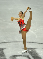 Rimgaile Meskaite of Lithuania performs her women's preliminary round free skating routine at the European Figure Skating Championships at the Motorpoint Arena in Sheffield