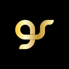 Initial Letter GS GR Rounded Lowercase Logo