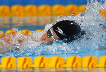 New Zealand's Boyle swims in the women's 800m freestyle heats during the World Swimming Championships in Barcelona