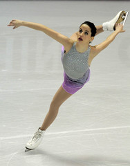 Sonia Lafuente of Spain performs during the Ladies Short Program at the ISU World Figure Skating Championships in London, Ontario