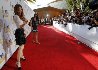 Actress Jessica Biel arrives at the 2010 MTV Movie Awards in Los Angeles
