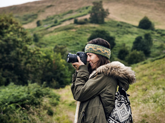 Woman Photography Camera Nature Environment Concept