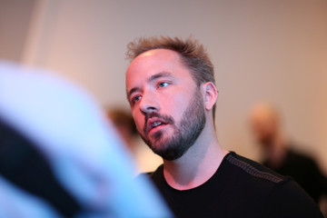 Drew Houston, Chief Executive Officer and founder of Dropbox, converses following the cloud storage company's announcement event in San Francisco