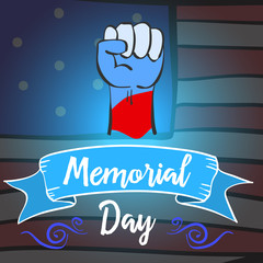 Hand draw memorial day design style