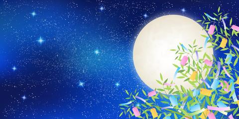 七夕 竹 夜空 背景
