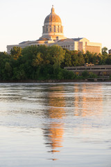 Jefferson City Missouri Capital Building Downtown Sunset Architecture