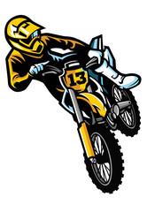motocross rider in act