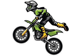 motocross rider doing stunt