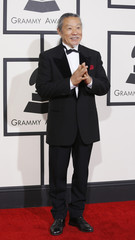 New age musician Kitaro arrives at the 56th annual Grammy Awards in Los Angeles