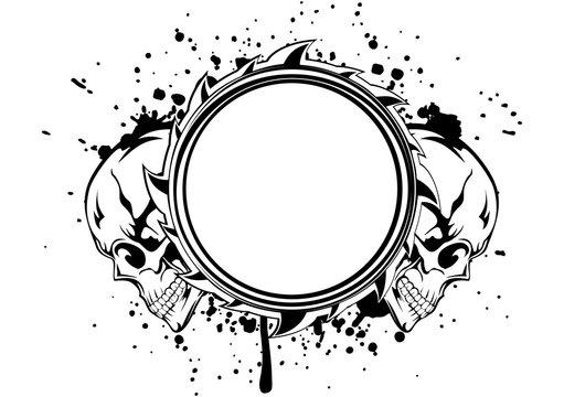 skulls frame