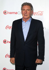 Actor Harrison Ford, recipient of the Lifetime Achievement Award, arrives at the CinemaCon awards ceremony at Caesars Palace in Las Vegas