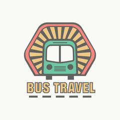 Bus trip and trvel tour badge logo