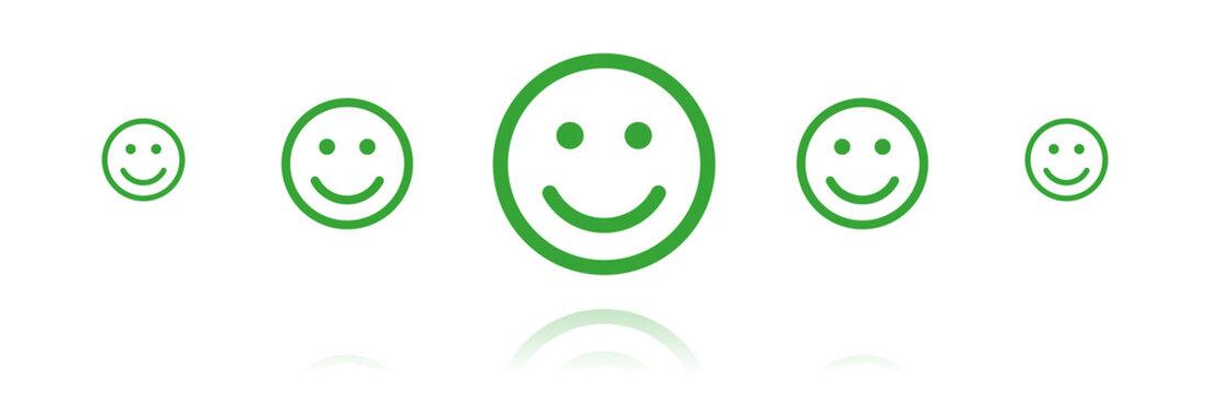 Banner - Smiley glücklich