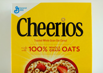 A box of Cheerios breakfast cereal made by General Mills is shown in this illustration photograph taken in Encinitas, California