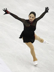 Gedevanishvili of Georgia performs during the women's short program at the ISU World Figure Skating Championships in Nice