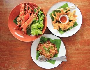 Thai food on the table