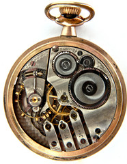 Inside of a Pocket Watch