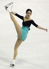 Lafuente of Spain performs during the women's free skating program at the European Figure Skating Championships in Zagreb