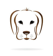 Golden retriever dog head logo