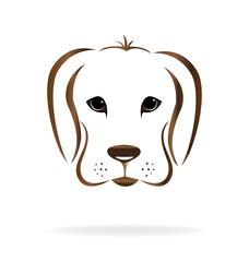 Golden retriever dog head logo