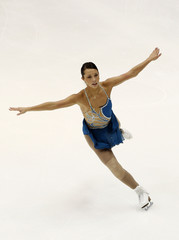 Myriane Samson of Canada performs during the ladies free skating competition at the ISU Four Continents Figure Skating Championships in Taipei