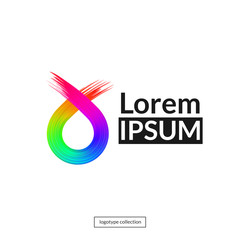 Rainbow abstract logo template.