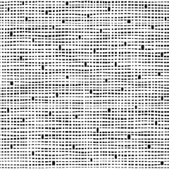 Dashed line abstract seamless pattern. Different rectangles and squares texture. Black and white background. Vector illustration