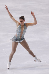 Phaneuf of Canada performs during the Ladies Free Skating program in the Bompard Trophy event at Bercy in Paris