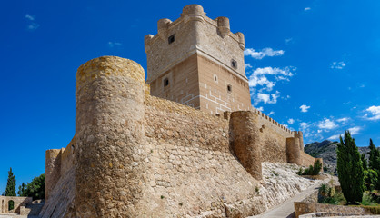Villena Castle bottom view in Costa Blanca Alicante Spain