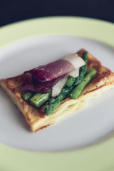 homemade puff pastry sandwich