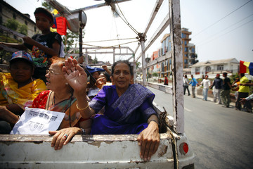 Activists participate in a rally held by RPP-Nepal demanding Constitutional Monarchy and for Nepal to be a Hindu Nation, in Kathmandu