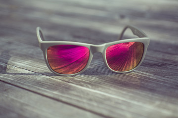 cool style sunglass reflexion