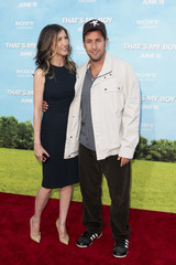 """Cast member Sandler and wife Jackie arrive for the premiere of """"That's My Boy"""" in Los Angeles"""